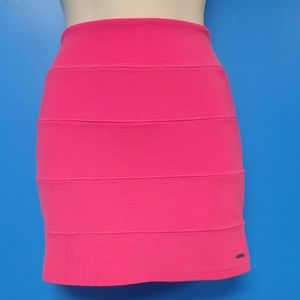 Pink Sexy Chic Stretch Fitted Textured Pink Mini